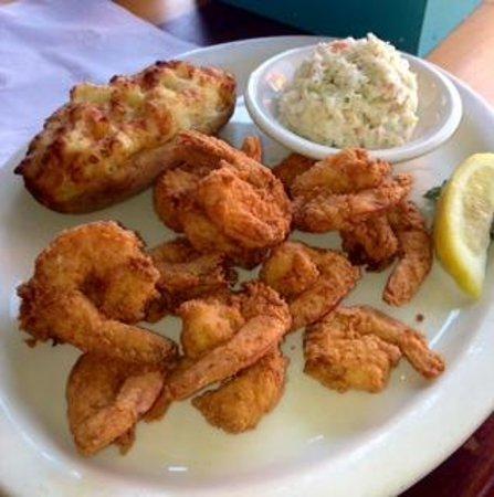 The Back Porch: Fried Shrimp, Slaw & Twice Baked Potato