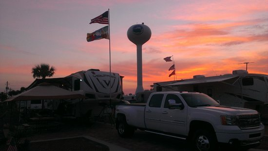 Destin West RV Resort : Beautiful Sunset at Destin West RV July 2014