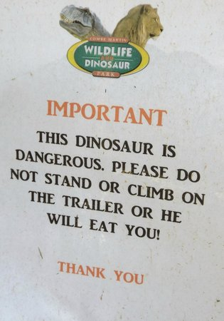 Combe Martin Wildlife and Dinosaur Park : Staff have a good sense of humour =)