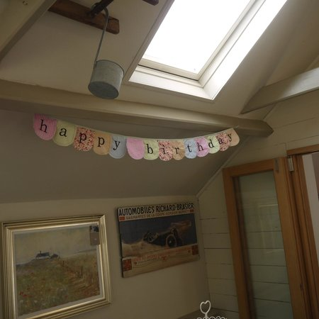 Cabbages and Kings Bed & Breakfast: Little touches mean a lot!  The greeting for my mums birthday