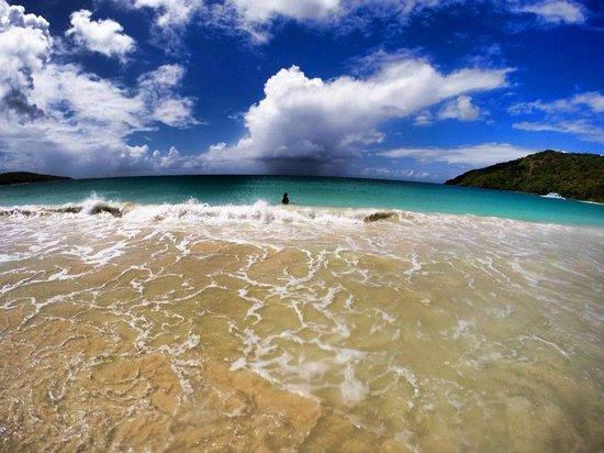 Flamenco Beach : Playing in the water