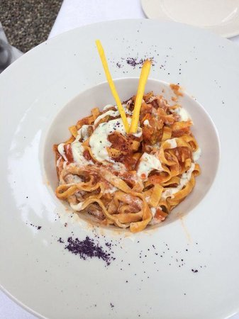 Albergo Ristorante Verbano : Nudel mit Zucchettiblüten