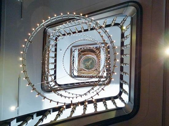 Museum of Bags and Purses: the stairs