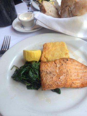 Atlantic Fish Company : Salmon, kale and corn pudding