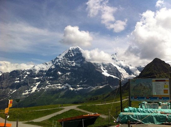 Beausite Park Hotel: View of the Eiger from Mannlichen