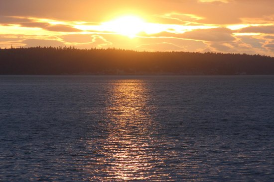 Camano Island Inn: Sunset from Room 4 Patio