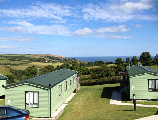 Seaview Holiday Village: View from caravan 16. 21/07/14