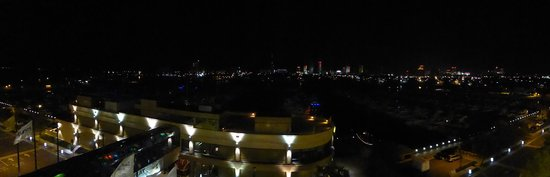 Golden Nugget : The view east at night is very cool.