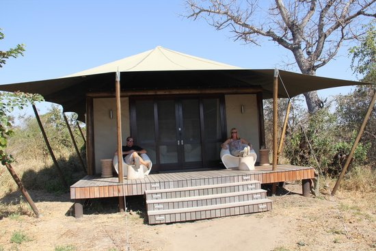 andBeyond Ngala Tented Camp: Outside tented lodge room