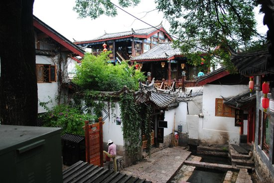 Old Town of Lijiang - China: Typical scene in Old Town