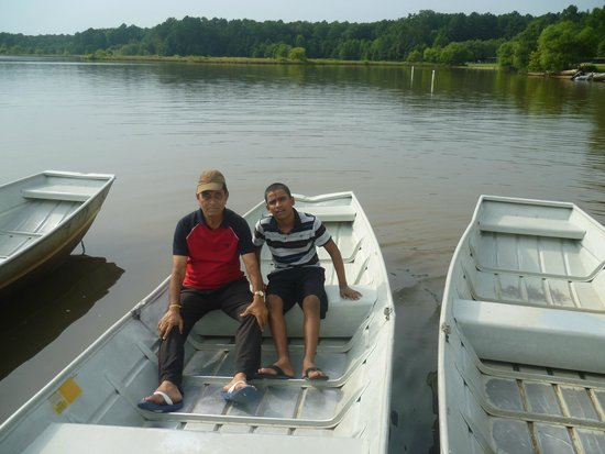 Lake Crabtree County Park : In a boat