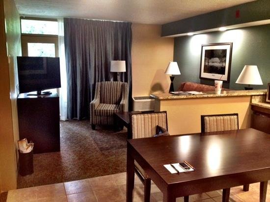 Greystone Lodge On the River : living room in 4th floor suite