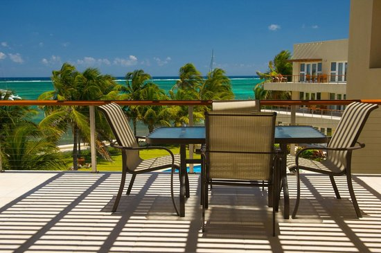 The Phoenix Resort: View from the veranda of a beach view suite