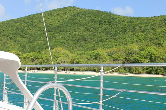 Cruise Ship Excursions - Champagne Catamaran : St. John from the boat