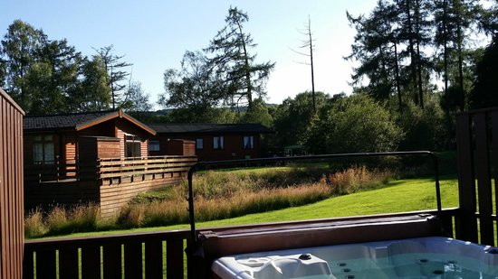 Hunters Quay Holiday Village: View from Hot Tub