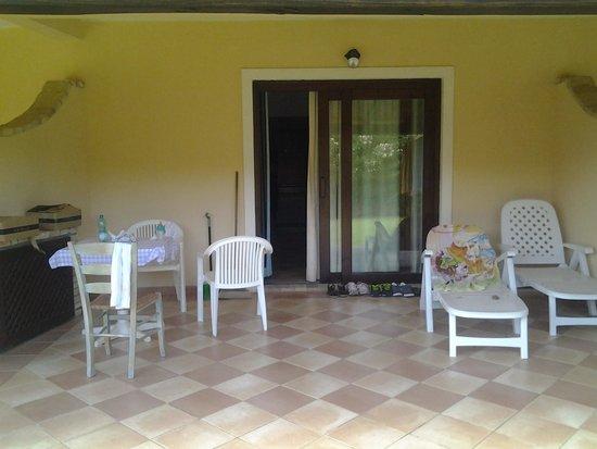 Porto Giunco Residence : la nostra veranda