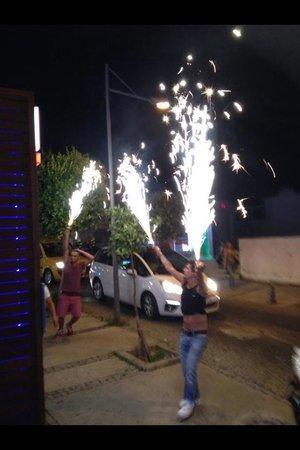 Babylon's restaurant: Fireworks at Babylon's