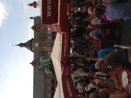 Altstadt: City Hall in Wine Festival in Aldstadt