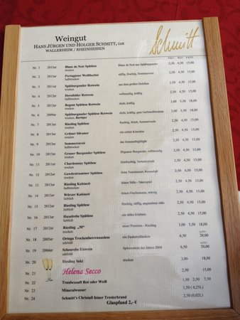 Altstadt: Wine menu in Wine Festival in Aldstadt