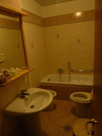 Hotel Villa Orio : Bathroom good. Shame about the lack of shower stand and curtain