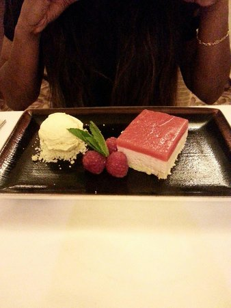Inn on the Lake: The strawberry delice with marmalade ice cream