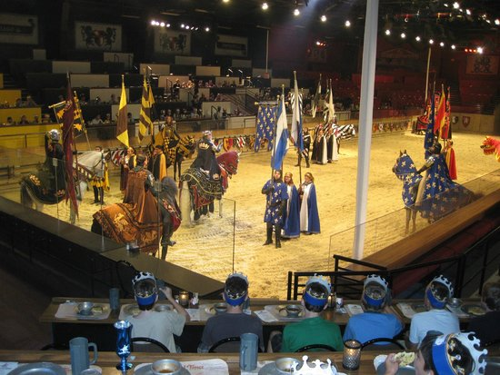 Boys enjoying another visit to Medieval Times