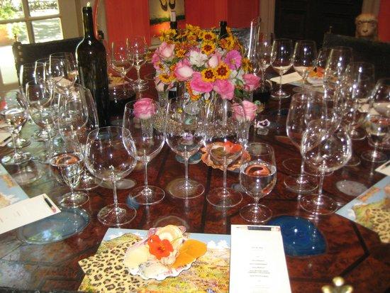 Swanson Vineyards Salon: Table in the Salon