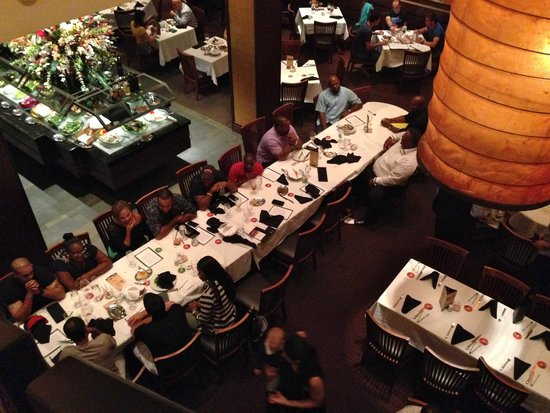 Fogo de Chao Brazilian Steakhouse: Expansive dining area and gorgeous salad bar.