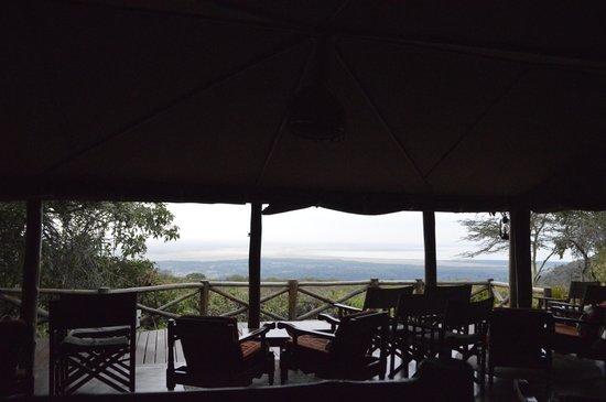 Kirurumu Manyara Lodge: Vista desde el comedor