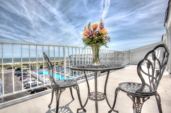 The Grand Hotel: Oceanfront Deck of our Celebration Suite, perfect for any occasion