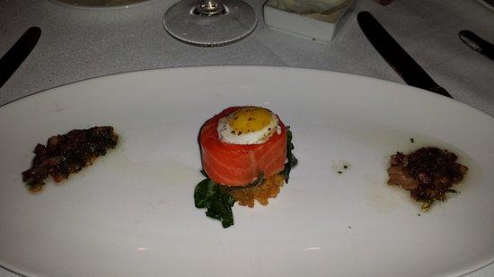 One Market Restaurant : Smoked Tasmanian Ocean Trout w/fried quail egg