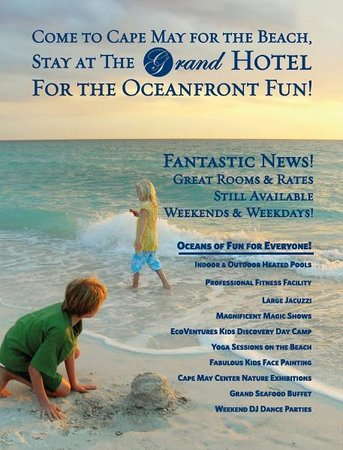The Grand Hotel: We have lots of family activities for every age!