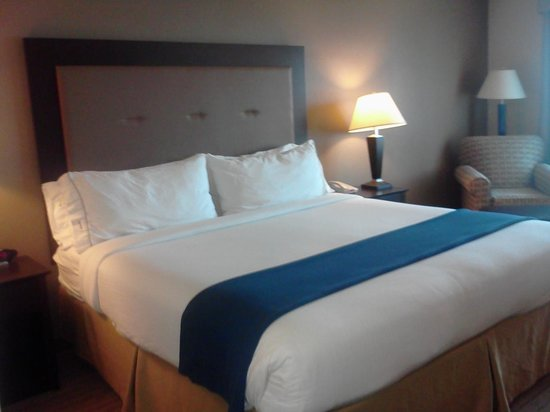 Holiday Inn Express Hotel & Suites Madison-Verona: Comfortable King Bed