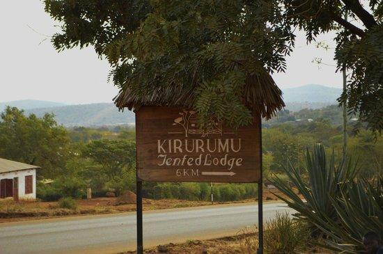 Kirurumu Manyara Lodge: Cartel de bienvenida