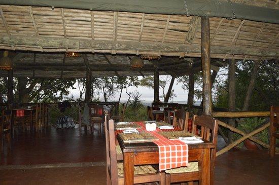 Kirurumu Manyara Lodge : Comedor
