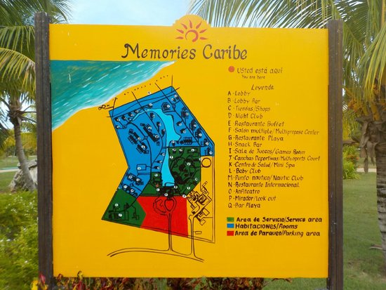 Memories Caribe Beach Resort: map of the resort