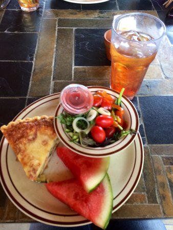 Garden Cafe at McLane's Country Garden: Literally the best quiche I've had in my life!!!