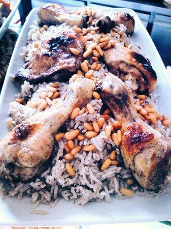 Wassouf Lounge: Chicken with mince lamb rice