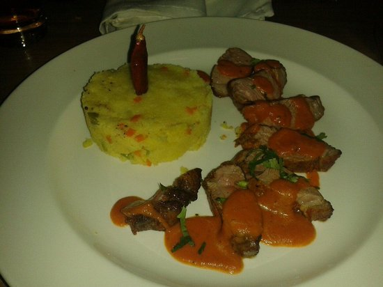 Yukti: Chump of lamb with semolina mash