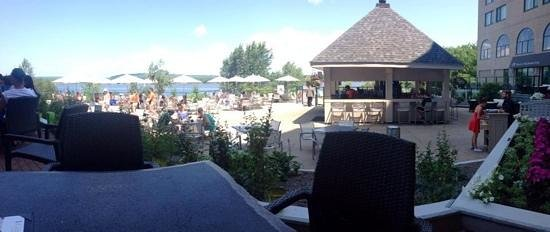Delta Hotels by Marriott Fredericton: view from outdoor eating area