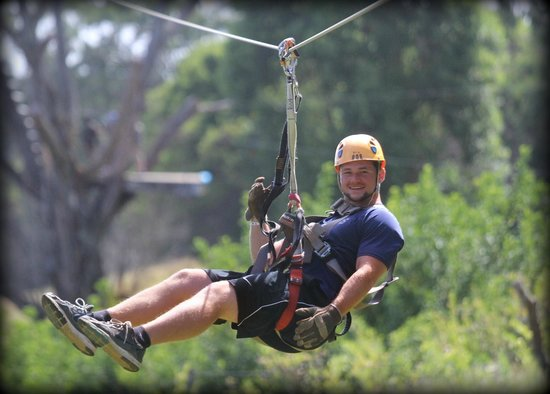Northshore Zipline Co. : Tyler on the zip line