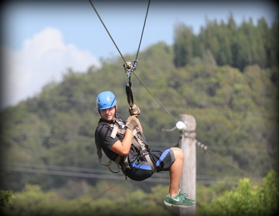 Northshore Zipline Co. : Brady on the zip line