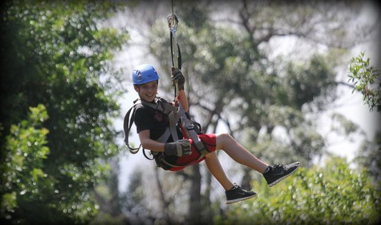 Northshore Zipline Co. : Hunter on the zip line