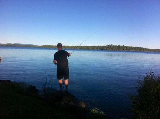 Sheridan Lake Bed and Breakfast: Fly Fishing from shore