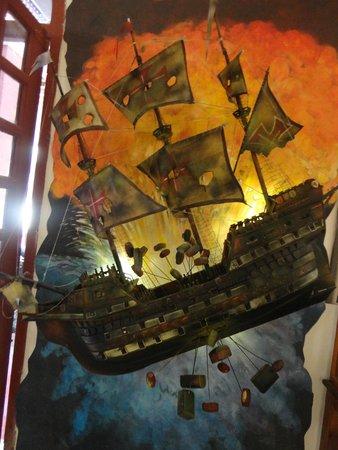 Naval Museum of the Caribbean : Um dos painéis do museu