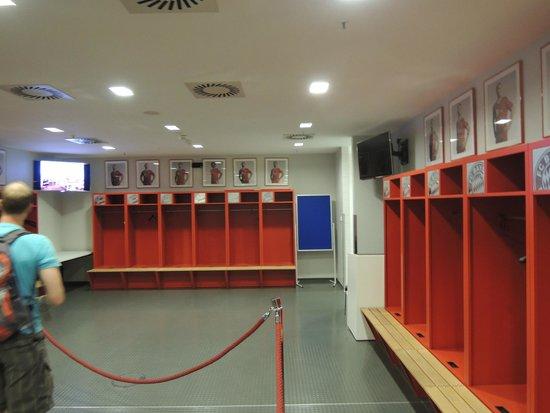 Allianz Arena: locker room