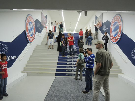 Allianz Arena: tunnel to the pitch