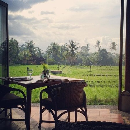 The Chedi Club Tanah Gajah, Ubud, Bali – a GHM hotel: breakfast every morning with this view