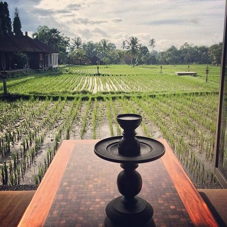 The Chedi Club Tanah Gajah, Ubud, Bali – a GHM hotel : view from dining pavillion