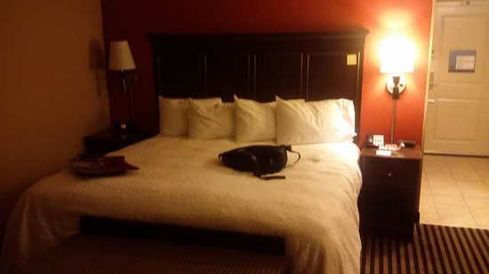 Hampton Inn Bath Brunswick : Cama amplia.